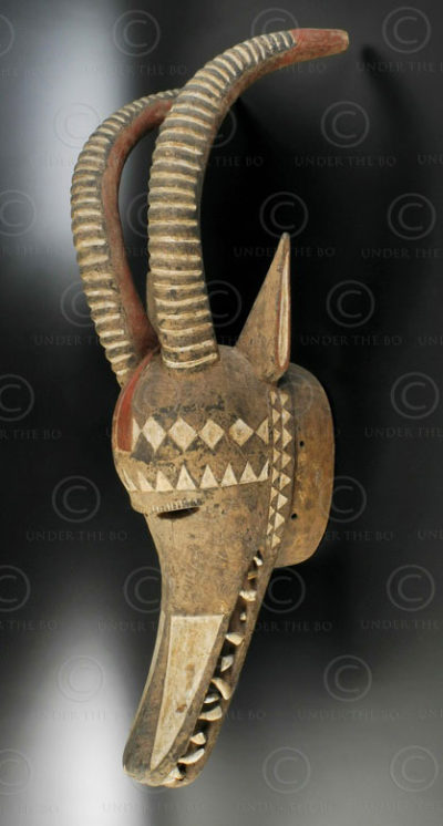 Bobo mask AF217. Bobo culture, Burkina Faso-Mali. West Africa.