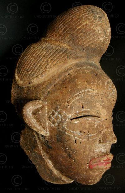 Punu mask T34. African tribal culture, Gabon.