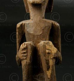 Amulette Bornéo bois BO130A. Culture dayak iban Ketungau ou M'baloh, Kalimantan