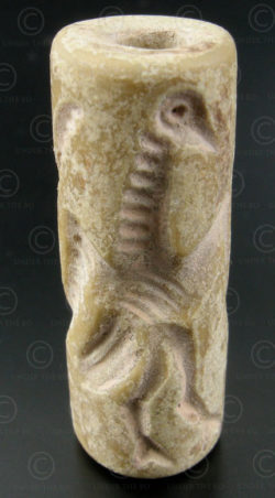 Bactrian cylinder seal SH40B. North Afghanistan, ancient Indo-Greek kingdom of B