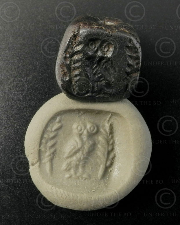 Ancient Scythian seal 13SH2A9. Nimruz province of Afghanistan.