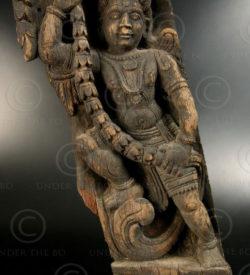 Angel bracket sculpture 08LN7. Tamil Nadu, southern India.