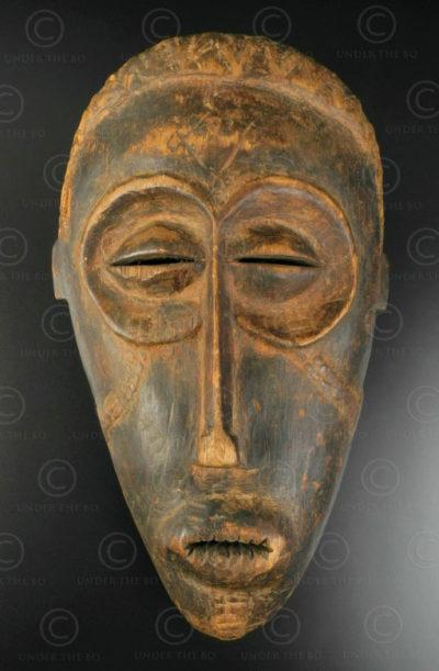 Angola Chokwe mask AF198. Chokwe culture, Angola, South West Africa.
