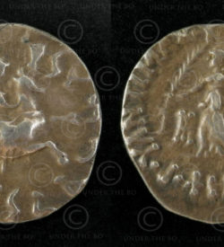 Bactrian silver coin C304. Indo-Greek Kingdom of Bactria.