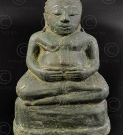 Antique Fat Buddha T412. Chieng Saen period. Northern Thailand.