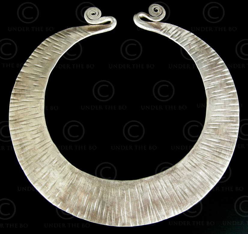 Hmong silver torque 609. Southern China or Laos