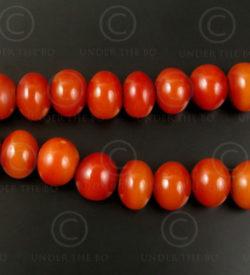 False red amber 12VN20A. France. Art Deco period.
