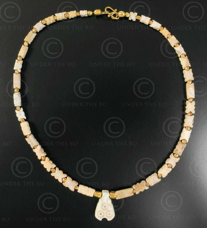 Necklace with archaeological stones 554A. Under the Bo workshop