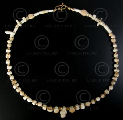 Necklace with archaeological stones 554B