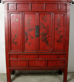 Armoire chinoise laquée BJ40A. Shanxi, Chine.