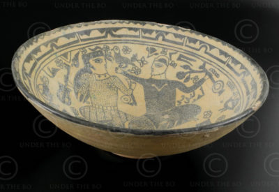 Assiette céramique persane AFG79.  Afghanistan.