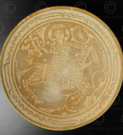 Assiette céramique persane AFG79B. Afghanistan, province du Nuristan.