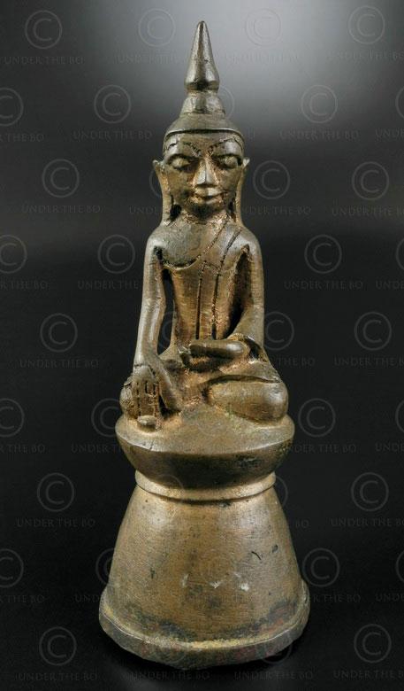 Ava bronze Buddha BU487A. Shan style, Ava period, Northern Burma.