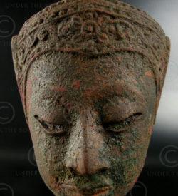 Thai bronze Buddha head T344. Central Siam (Thailand).