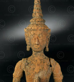 Ayutthaya apsara T433. Ayutthaya style and period, Siam Kingdom (now Thailand).