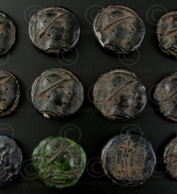 Bactrian glass tokens SH30B. Afghanistan.