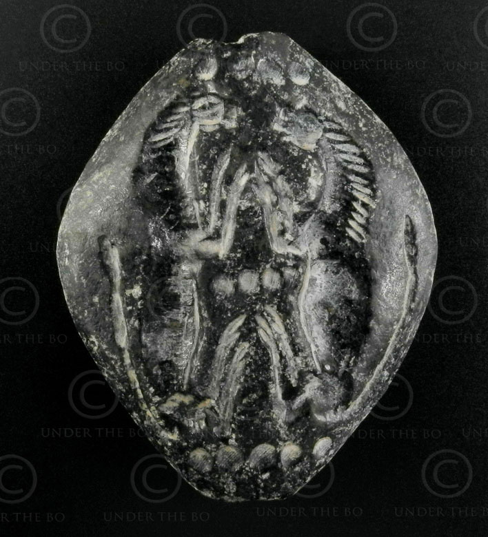 Bactrian schist seal 13SH39B. North Afghanistan, ancient kingdom of Bactria.