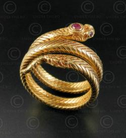 Bague serpent or R298. Nord de l'Inde.