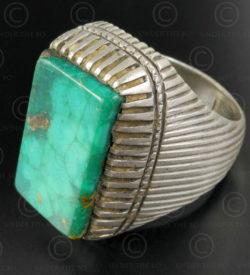 Bague turquoise et argent R284A. Culture Asie centrale.