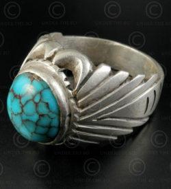 Bague Turquoise et argent R288L. Culture Asie centrale.