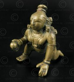 Bala Krishna bronze 16P45. Etat du Karnataka, Inde du Sud.