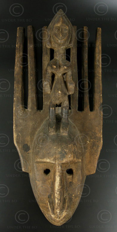 Bambara mask AF166. Bambara culture. Mali, West Africa.