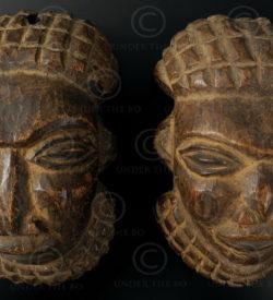 Bamun mask pendants 12OL12. Bamun culture, Cameroon.