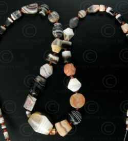Banded agate beads SH44. From India to Iran.