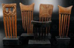 African combs 12UZ1C. Baule and Ashanti cultures, Ivory Coast, West Africa.