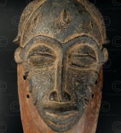 Baule tribal mask 12VN5, Wooden mask. Baule culture, Ivory Coast, West Africa.