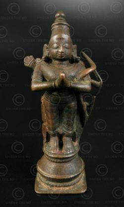 Bharat debout bronze 16P40. Tamil Nadu, Inde du sud.