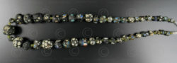 Black Gabri glass beads 13SH44B. Afghanistan.