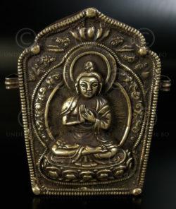Boîte gau tibétaine TIB145. Tibet, 19ème siècle.
