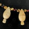 Bone skittles and garnet necklace 623. Designed by François Villaret.