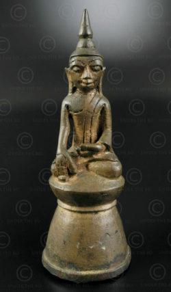 Bouddha Ava bronze BU487A. Style shan, période d'Ava, Birmanie du nord.