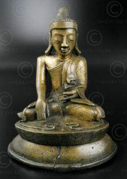 Bouddha Mandalay bronze BU492. Birmanie du nord.