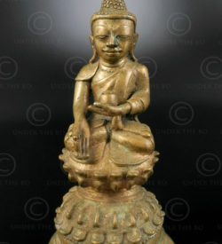 Bouddha Shan bronze BU491. Birmanie du nord.