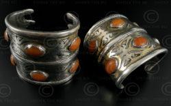 Bracelets argent turkmènes B207. Culture turkmène tekkè, Asie centrale.