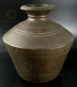 Brass water jar IN477. Andhra Pradesh, South India.