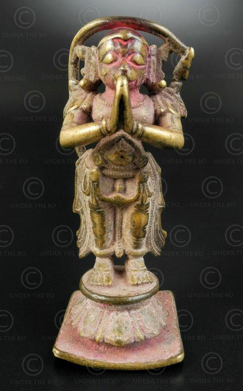 Hanuman bronze statuette 16P43. Karnataka state, Southern India.