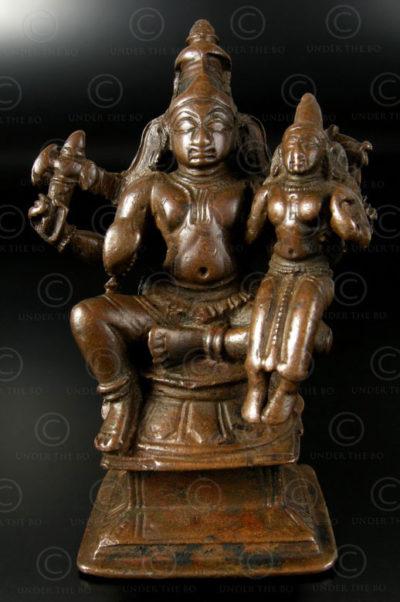 Bronze Shiva with Parvati statuette A193. Tamil Nadu, southern India.