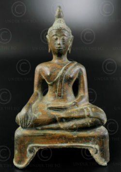 Thai Buddha statuette T414. Kampaeng-Phet style, Siam (Thailand).