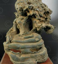 Bronze religieux défectueux T377. Style de Chiang Sen, royaume du Lanna, Thaïlan