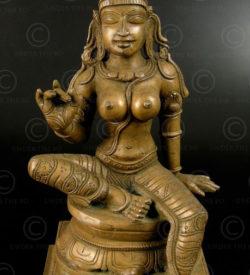 Bronze seated Bogashakti 09KB5C. Chola period style. Tamil Nadu, Southern India.