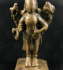 Bronze standing Vishnu statuette A229. Bombay area, Maharashtra state, Southern