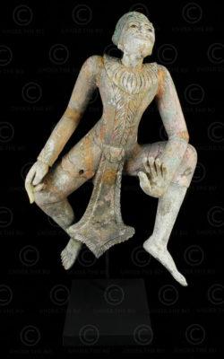 Burmese dancing Nat BU534. Mandalay style, Burma.