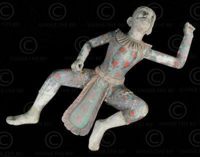 Burmese dancing Nat BU535B. Mandalay style, Burma.