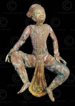 Burmese dancing Nat BU535C. Mandalay style, Burma.