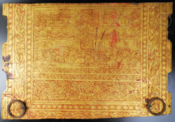 Burmese gilded panel BU501. Mandalay style, Burma.