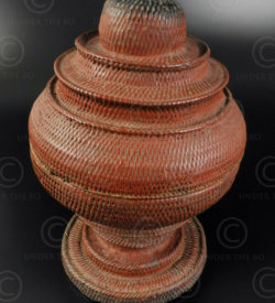 Burmese lacquer basket BU109. Burma.